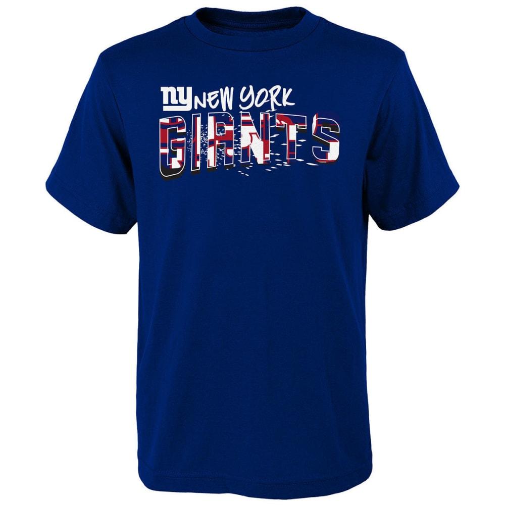 NEW YORK GIANTS Big Boys' Spray Color-Block Short-Sleeve Tee - ROYAL BLUE