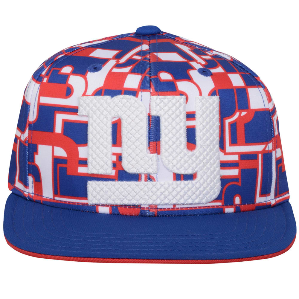 NEW YORK GIANTS Boys' Flat Brim Snapback Hat - ROYAL BLUE