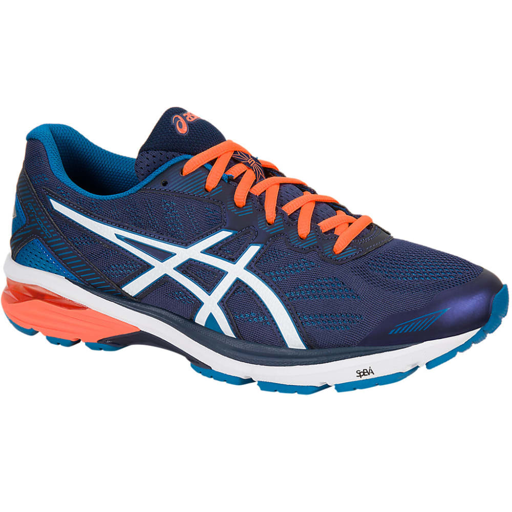 ASICS Men's GT-1000 5 Running Shoes, Navy/Orange - NAVY