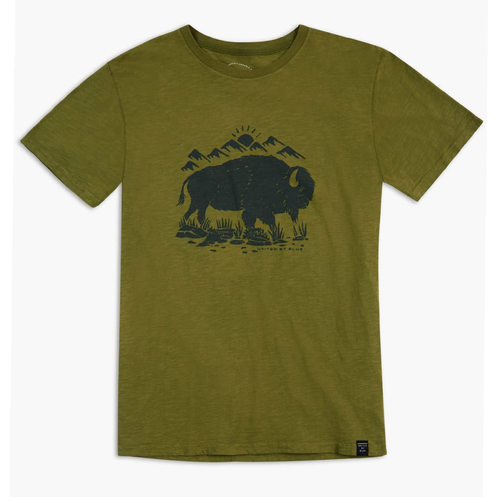 UNITED BY BLUE Men's Mountain Bison Short-Sleeve Tee - OLIVE-42