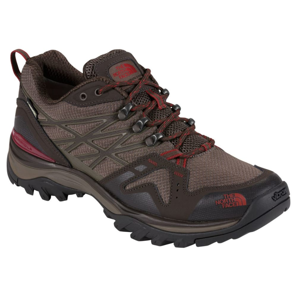 THE NORTH FACE Men's Hedgehog Fastpack Gore-Tex® Waterproof Low Hiking Shoes, Wide - COFFEE BROWN/RED AZL