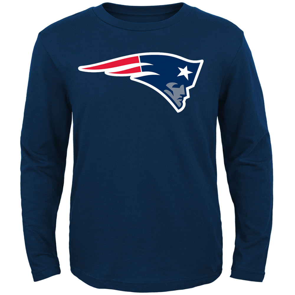 NEW ENGLAND PATRIOTS Boys' Primary Logo Long-Sleeve Tee - NAVY