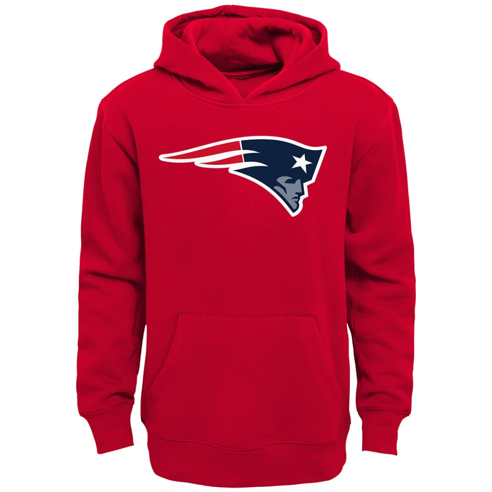 NEW ENGLAND PATRIOTS Boys' Primary Logo Pullover Hoodie - RED