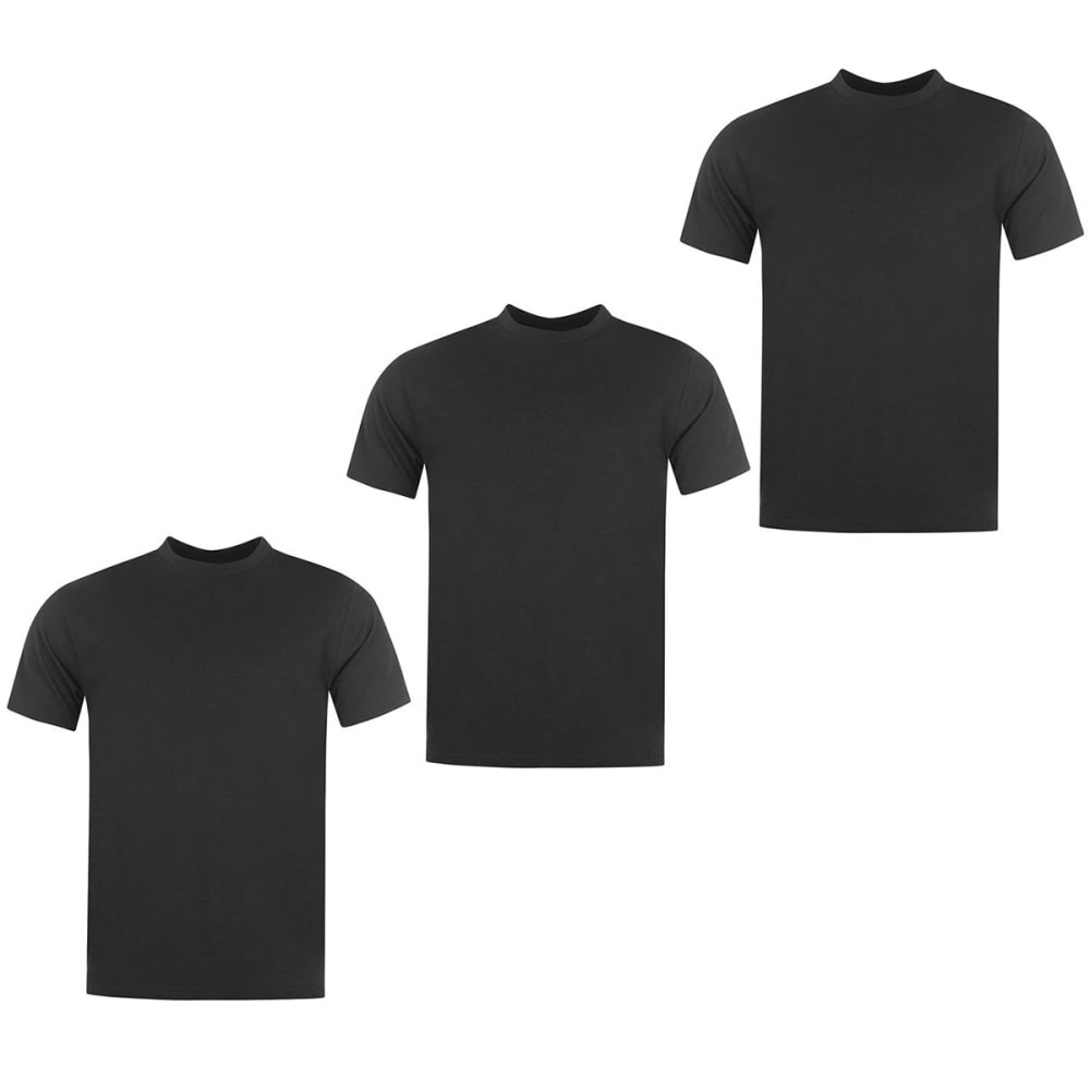 DONNAY Men's Short-Sleeve Tees, 3 Pack - BLACK
