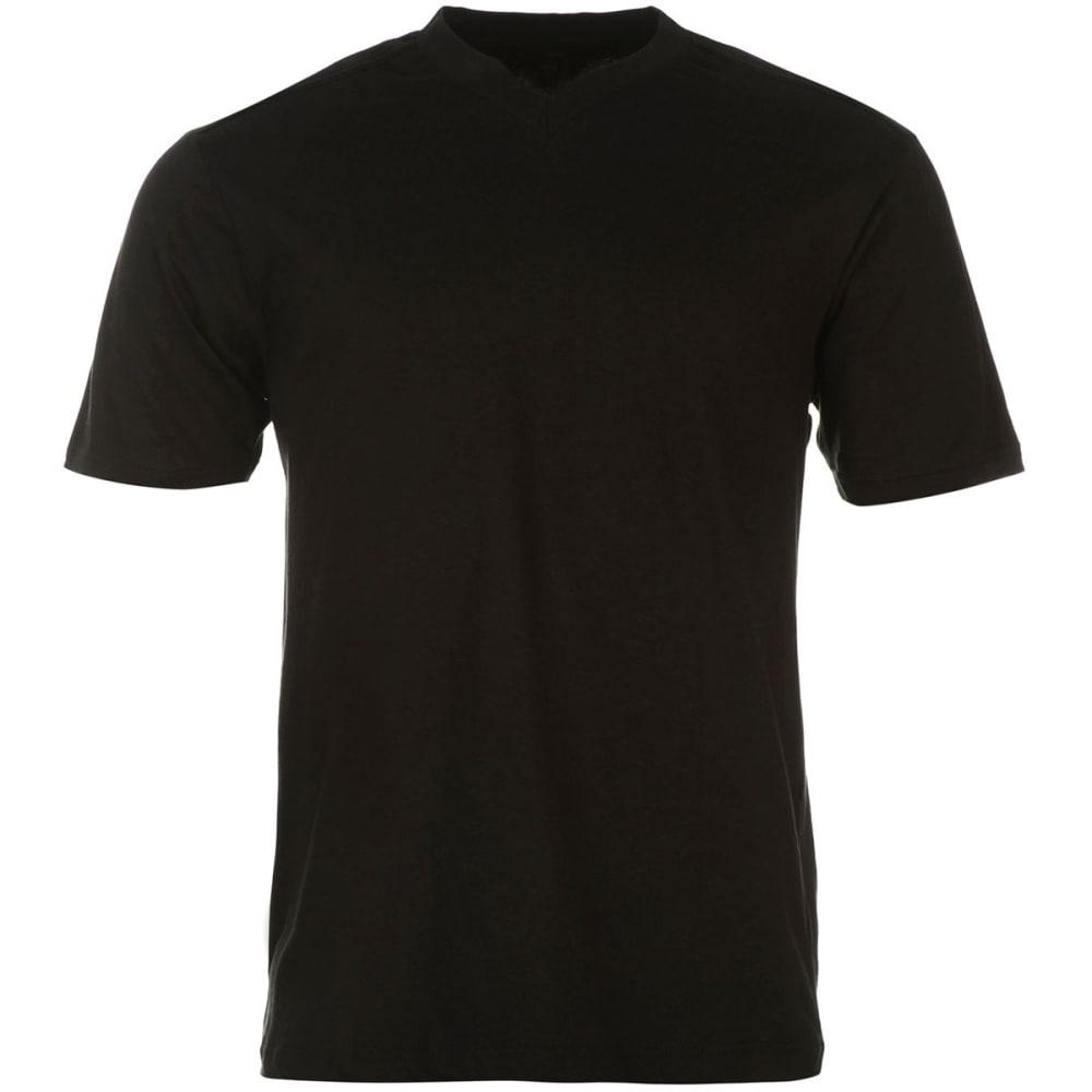 DONNAY Men's V-Neck Short-Sleeve Tees, 3-Pack - BLACK