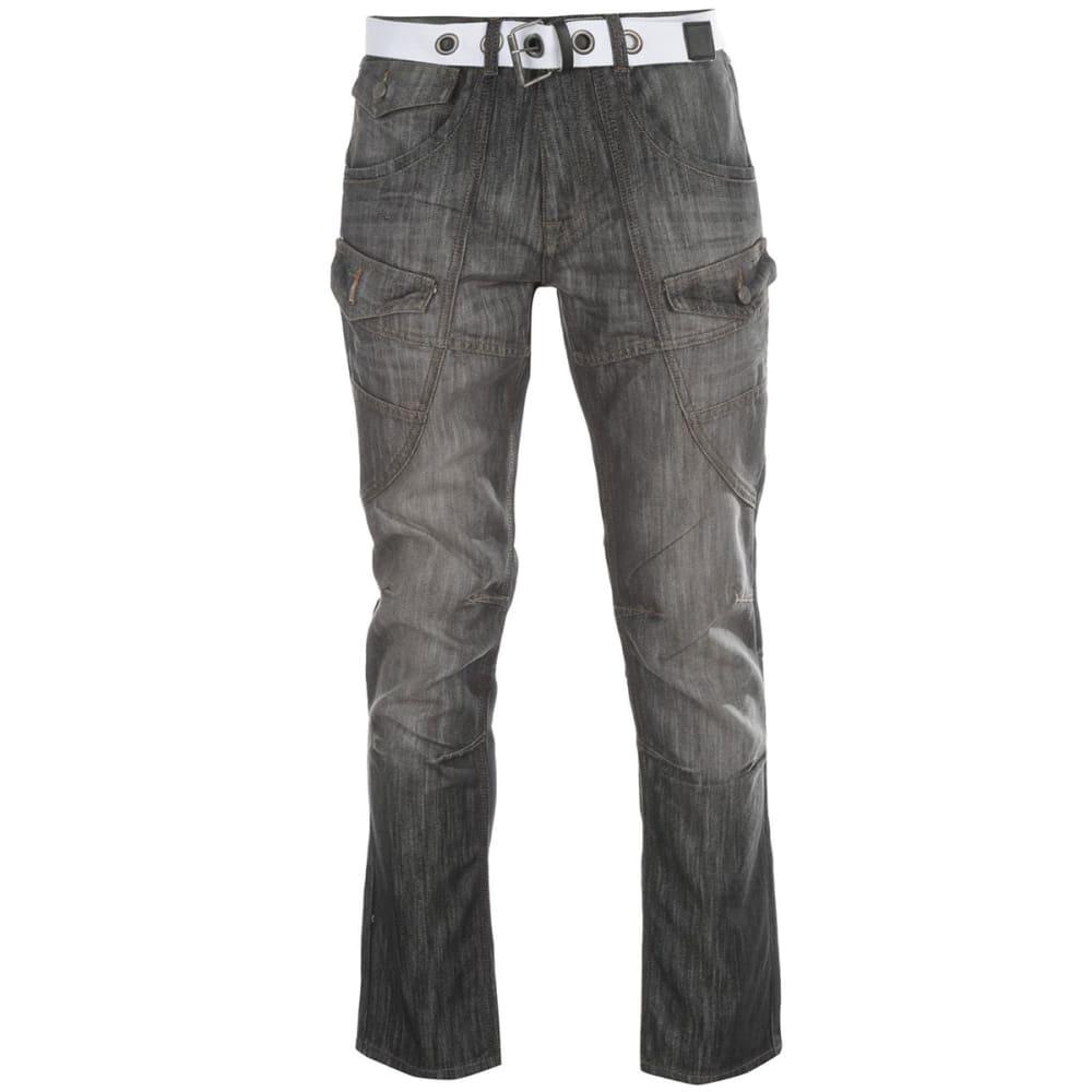 NO FEAR Men's Belted Cargo Jeans - BLACK