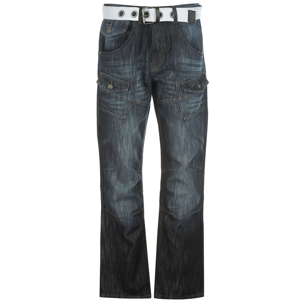 NO FEAR Men's Belted Cargo Jeans 30/32