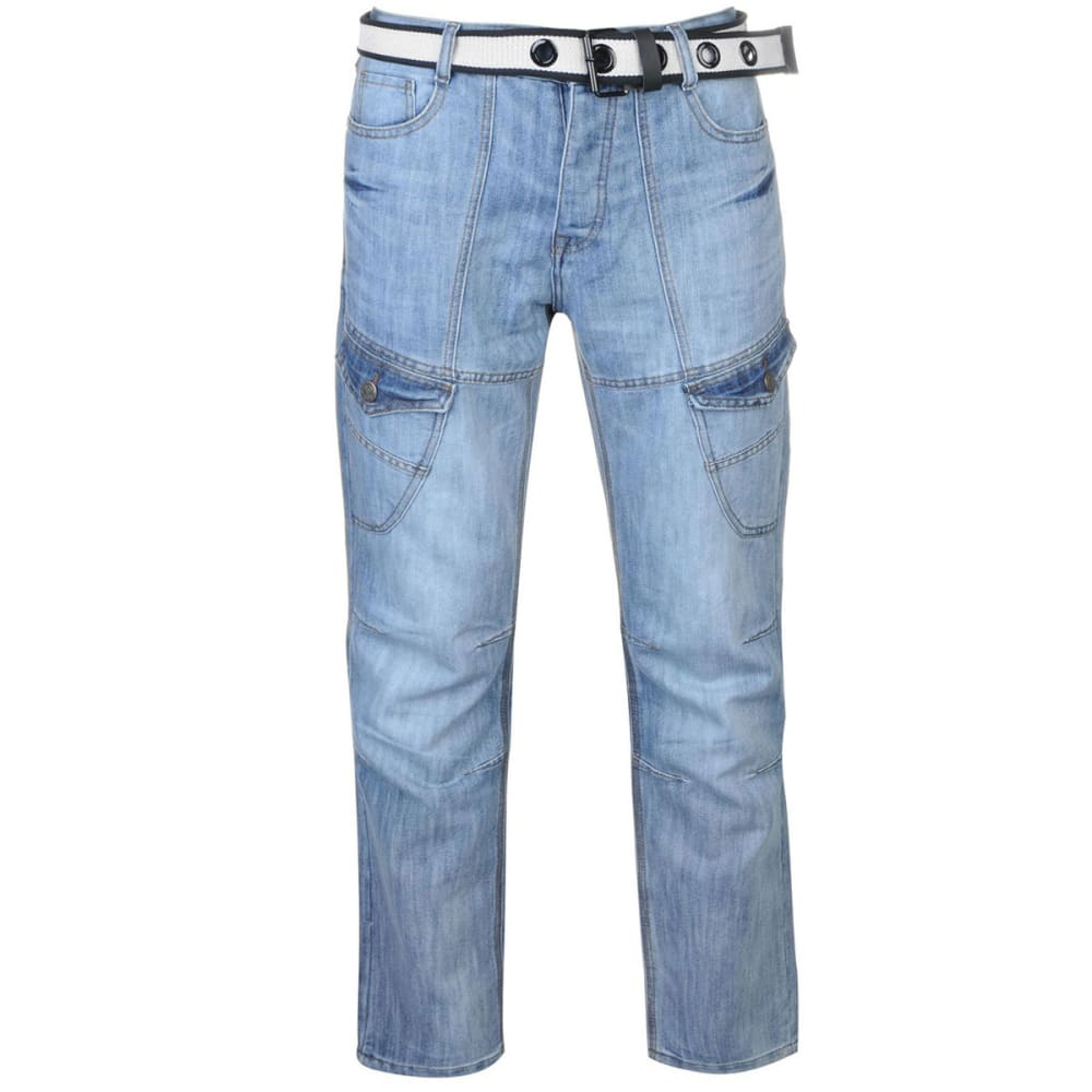 NO FEAR Men's Belted Cargo Jeans 30/32