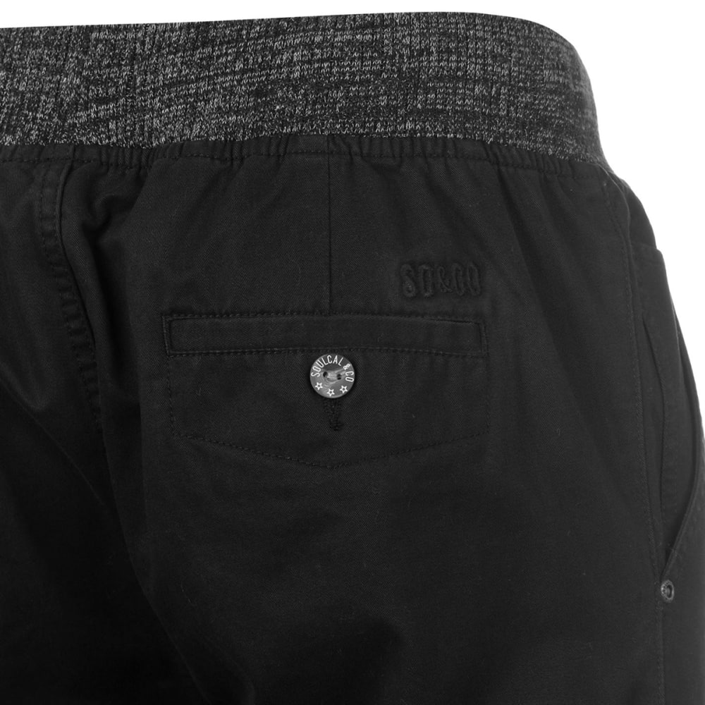 SOULCAL Men's Ribbed Waistband Chinos - BLACK