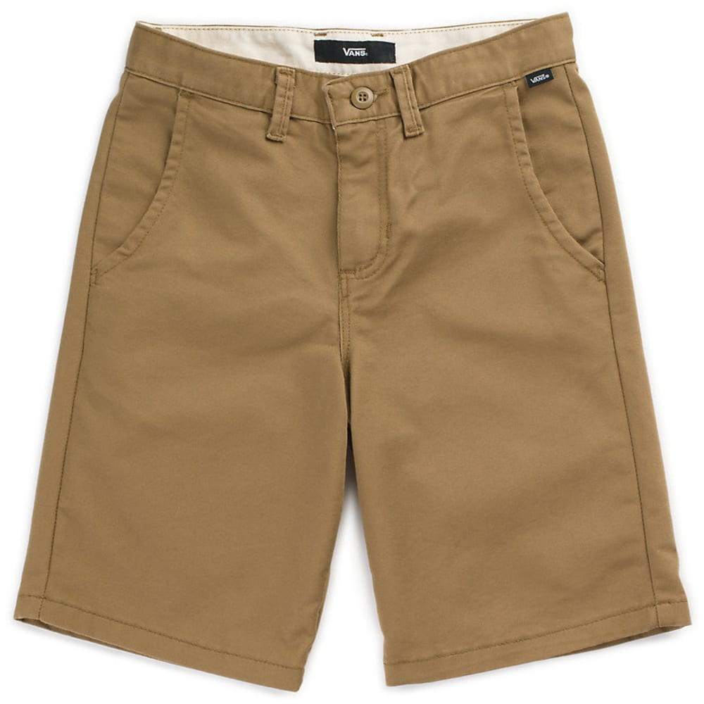 VANS Big Boys' Authentic Stretch Shorts - DIRT