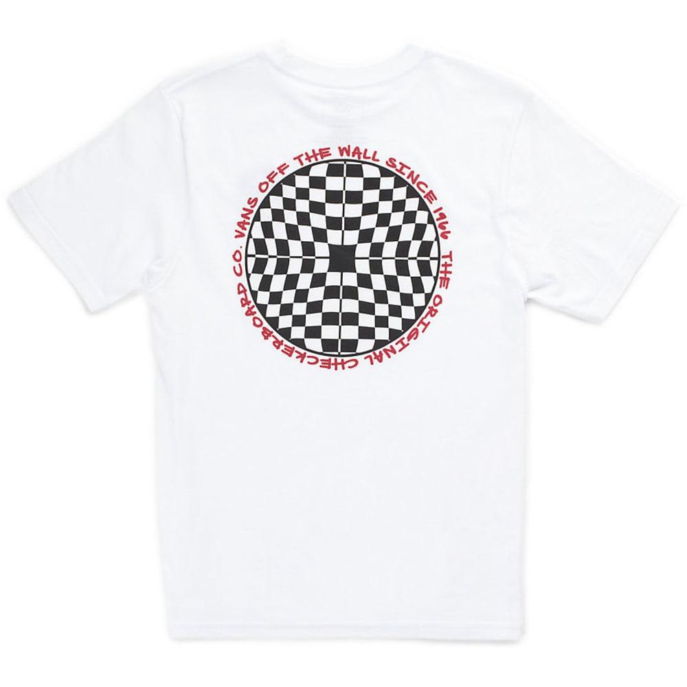 VANS Boys' Checkered Graphic Short-Sleeve Tee S