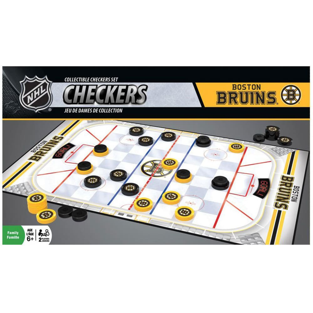 BOSTON BRUINS Checkers Game - NO COLOR