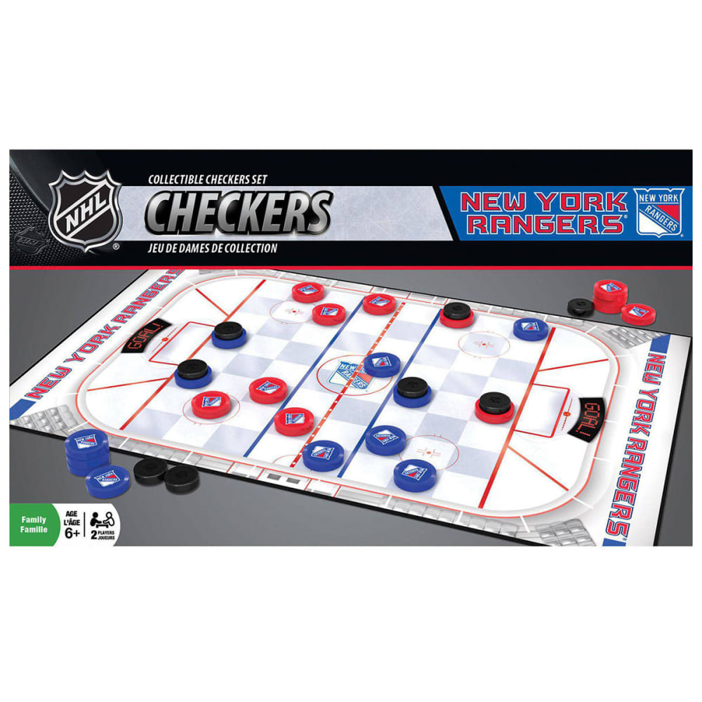 NEW YORK RANGERS Checkers Game - NO COLOR