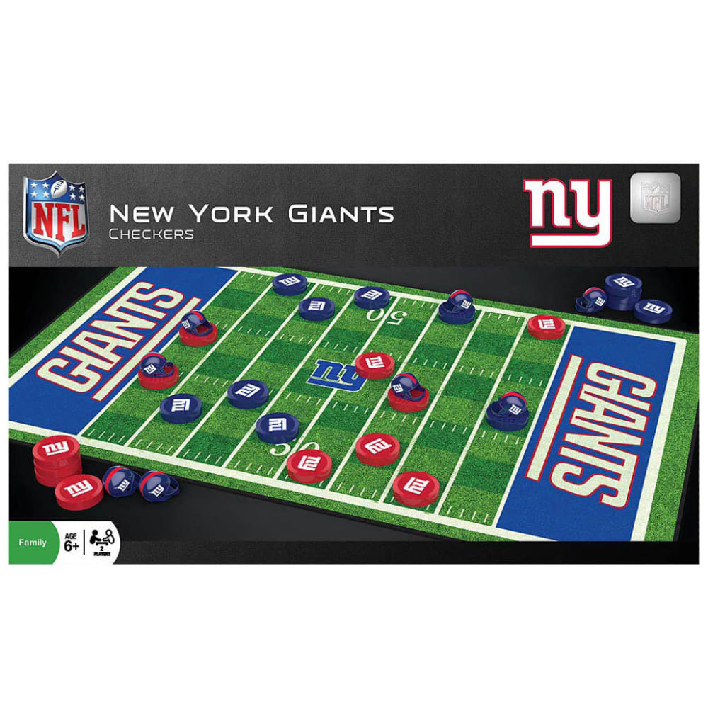 NEW YORK GIANTS Checkers Game - NO COLOR