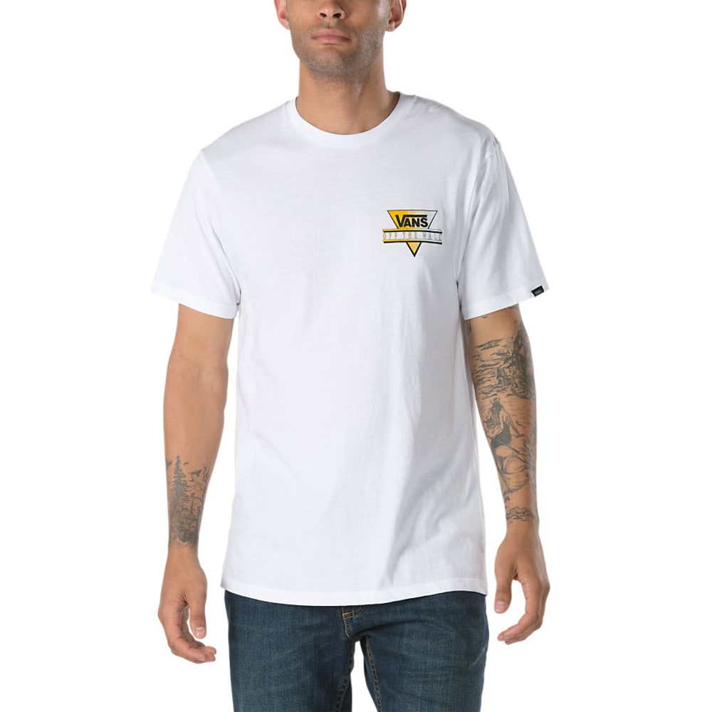 VANS Guys' Retro Tri Short-Sleeve Tee - WHITE