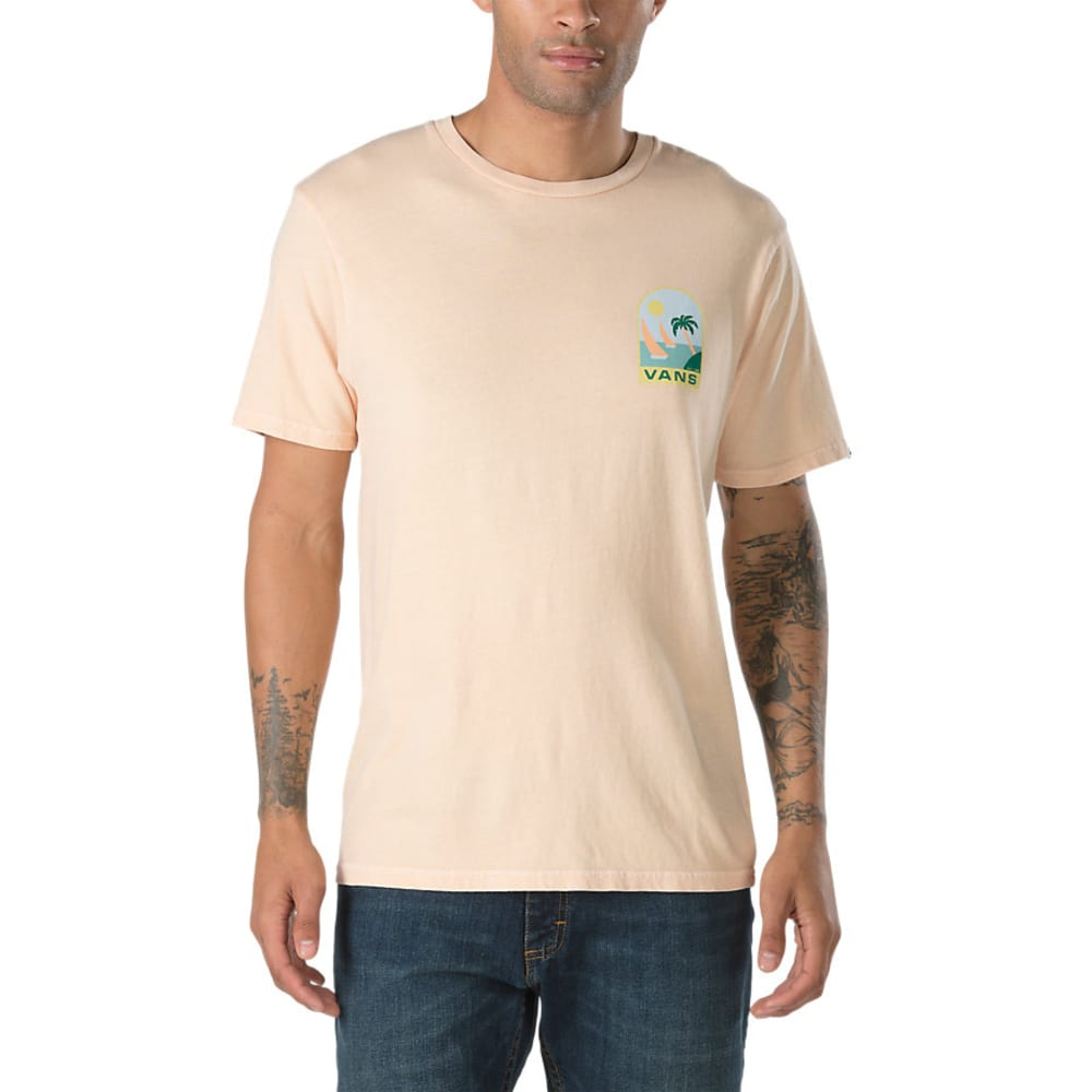 VANS Guys' Open Sail Short-Sleeve Tee - APRICOT
