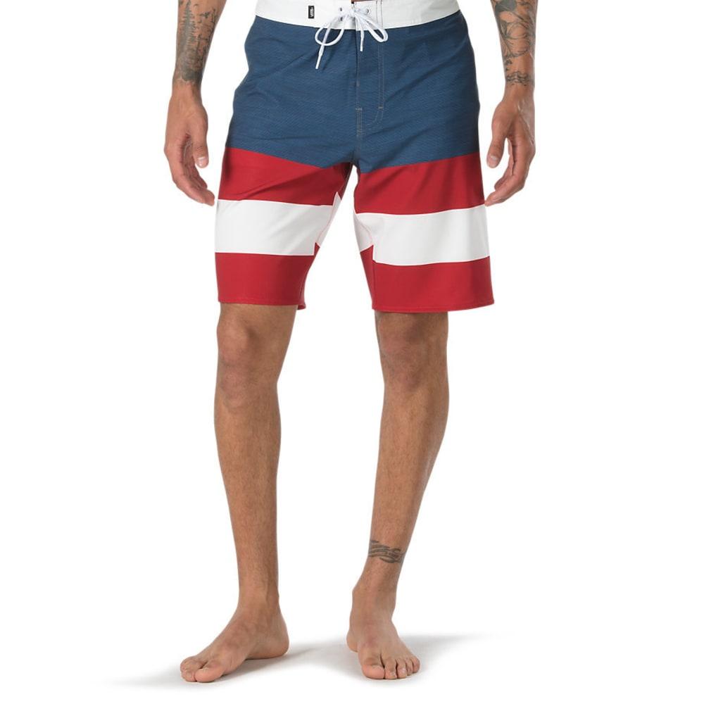 VANS Guys' 20 in. Era Boardshorts - BLU/RED/WHT