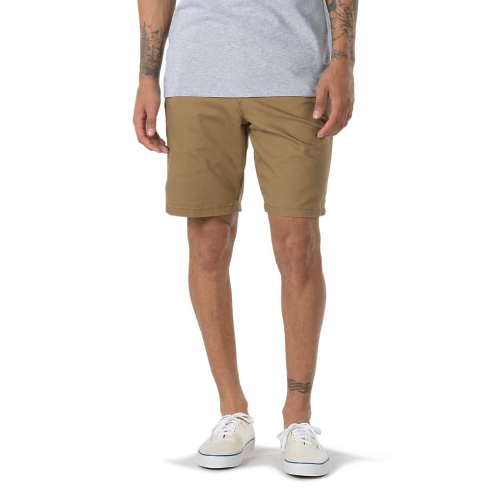 Vans Guys' Authentic Stretch Shorts - Brown, 30
