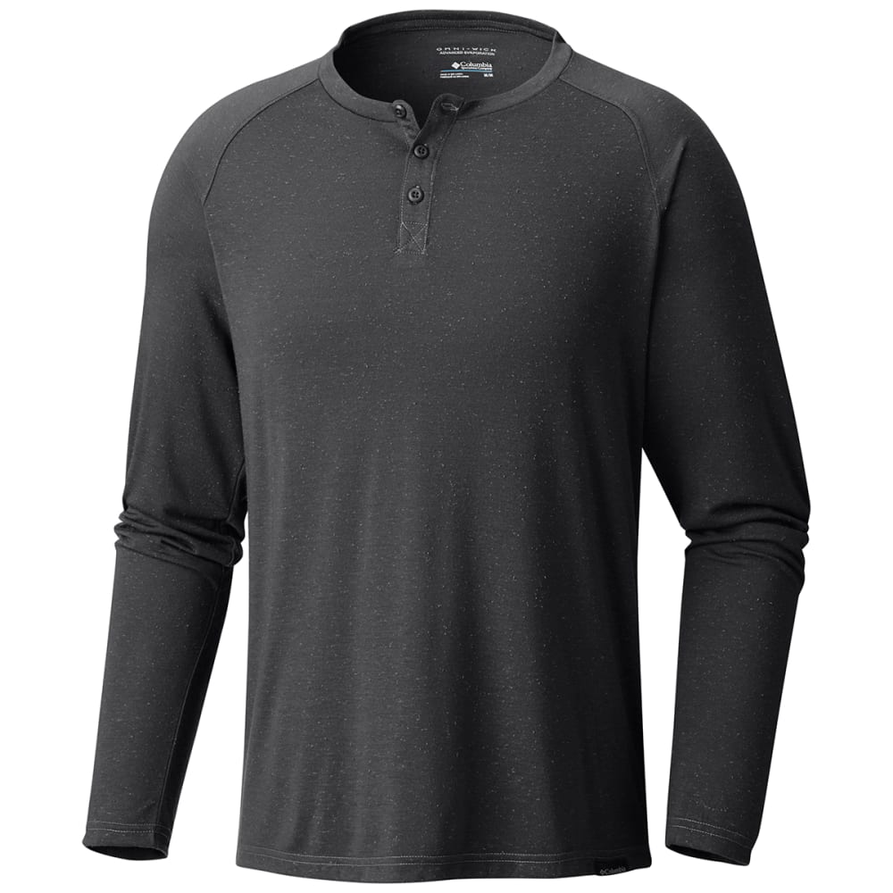 Columbia Men's Trail Shaker(TM) Long-Sleeve Henley - Black, M
