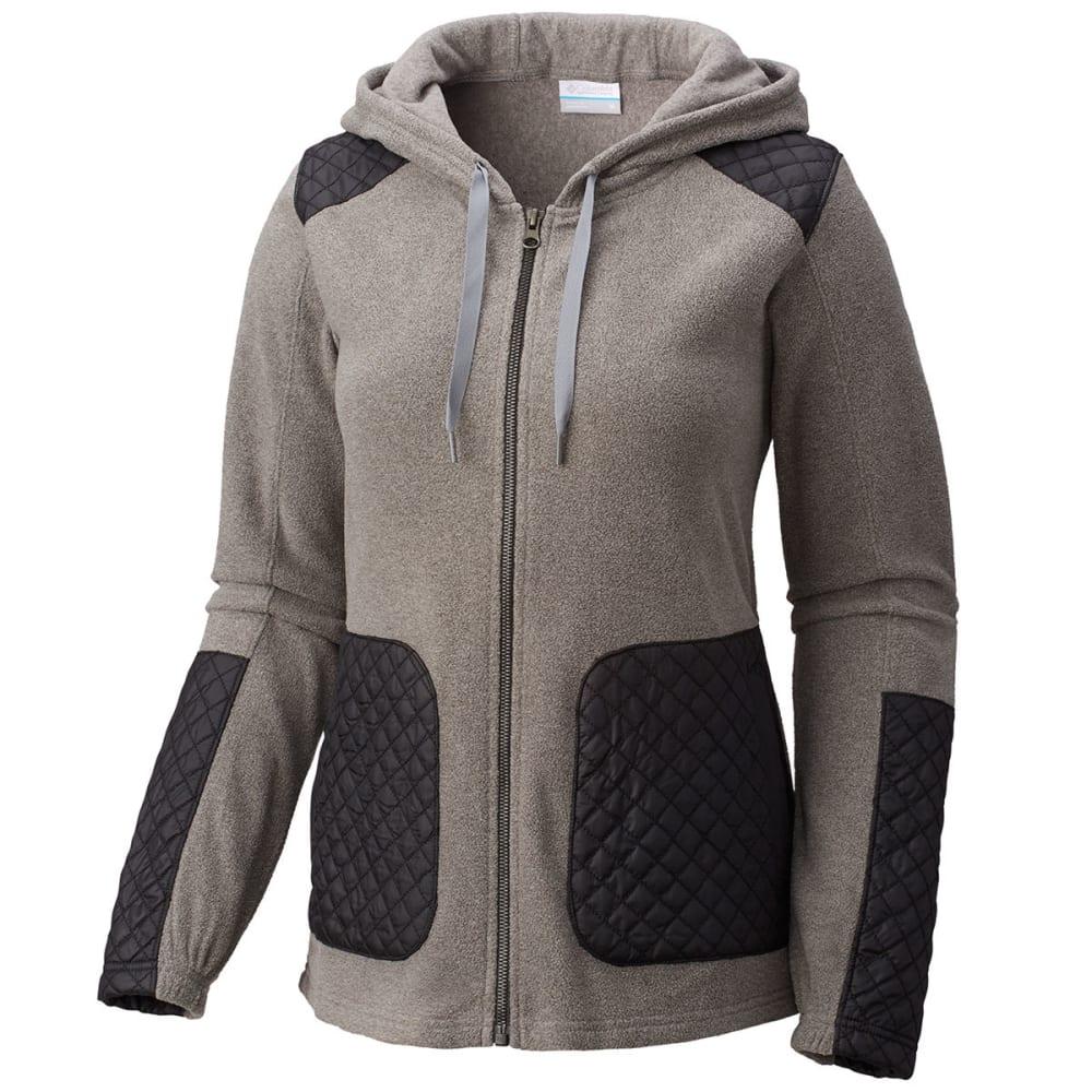 4e2d1edae8b8d COLUMBIA Women  39 s Warm-Up Hooded Fleece Jacket - 030-CHARCOAL