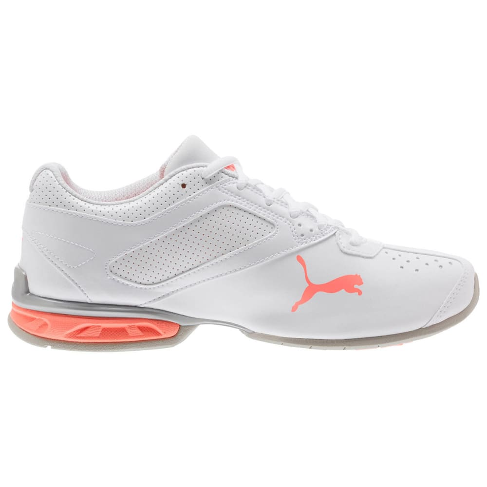 PUMA Women's Tazon 6 FM Running Shoes, White/Peach - WHITE