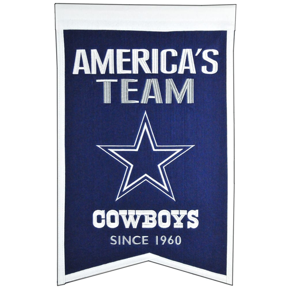 DALLAS COWBOYS America's Team Banner - NO COLOR