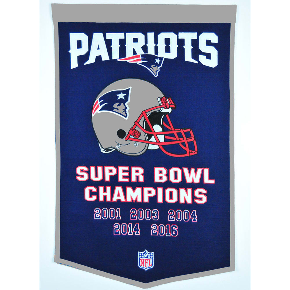 NEW ENGLAND PATRIOTS Super Bowl Champions Dynasty Banner - NO COLOR