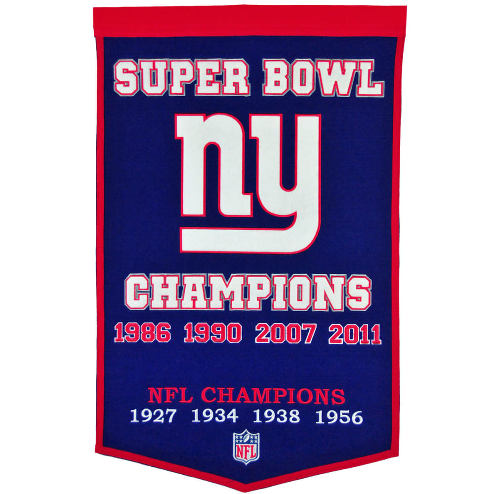NEW YORK GIANTS Super Bowl Champions Dynasty Banner - NO COLOR