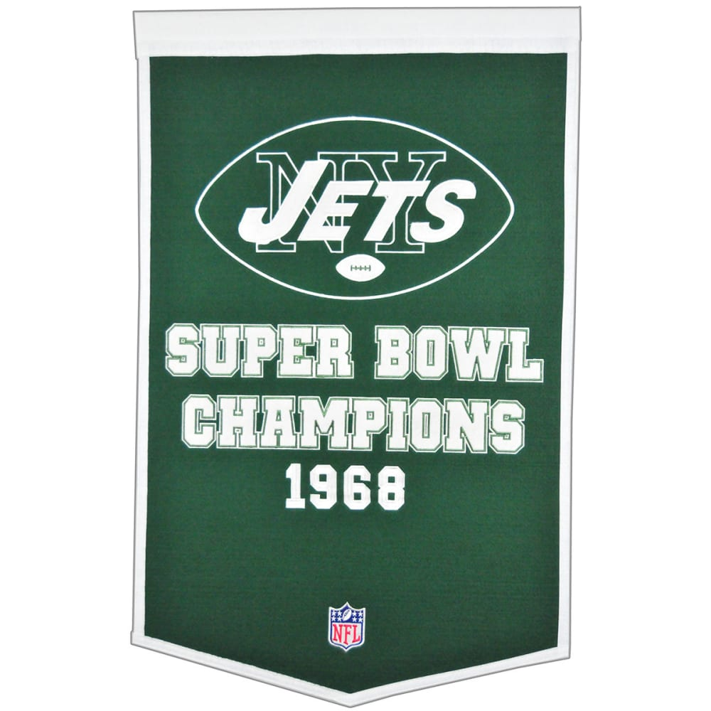 NEW YORK JETS Super Bowl Champions Dynasty Banner - NO COLOR