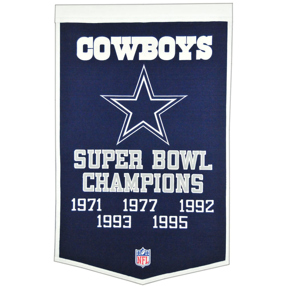 DALLAS COWBOYS Super Bowl Champions Dynasty Banner - NO COLOR