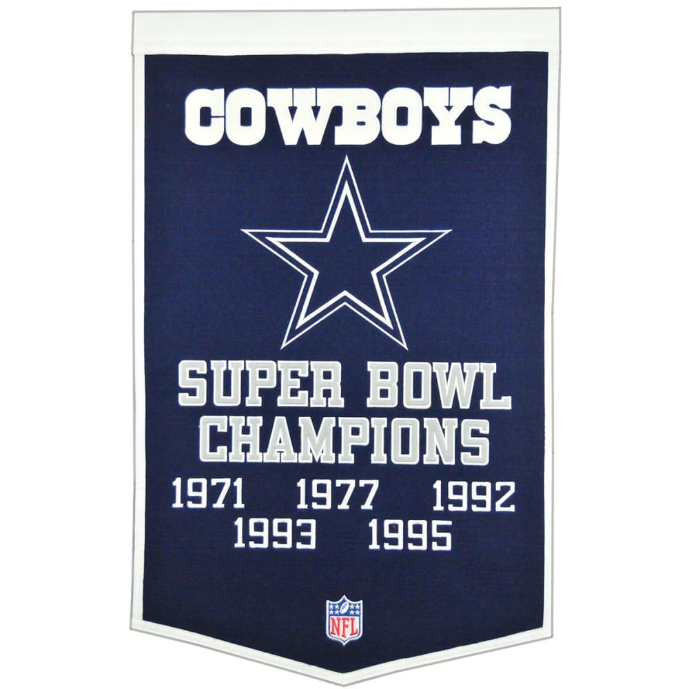 DALLAS COWBOYS Super Bowl Champions Dynasty Banner - NO COLOR
