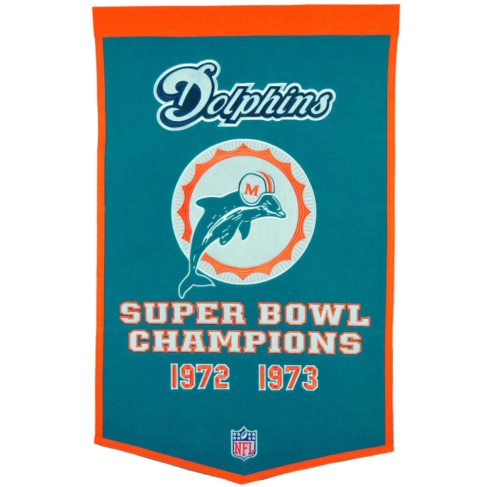 MIAMI DOLPHINS Super Bowl Champions Dynasty Banner - NO COLOR