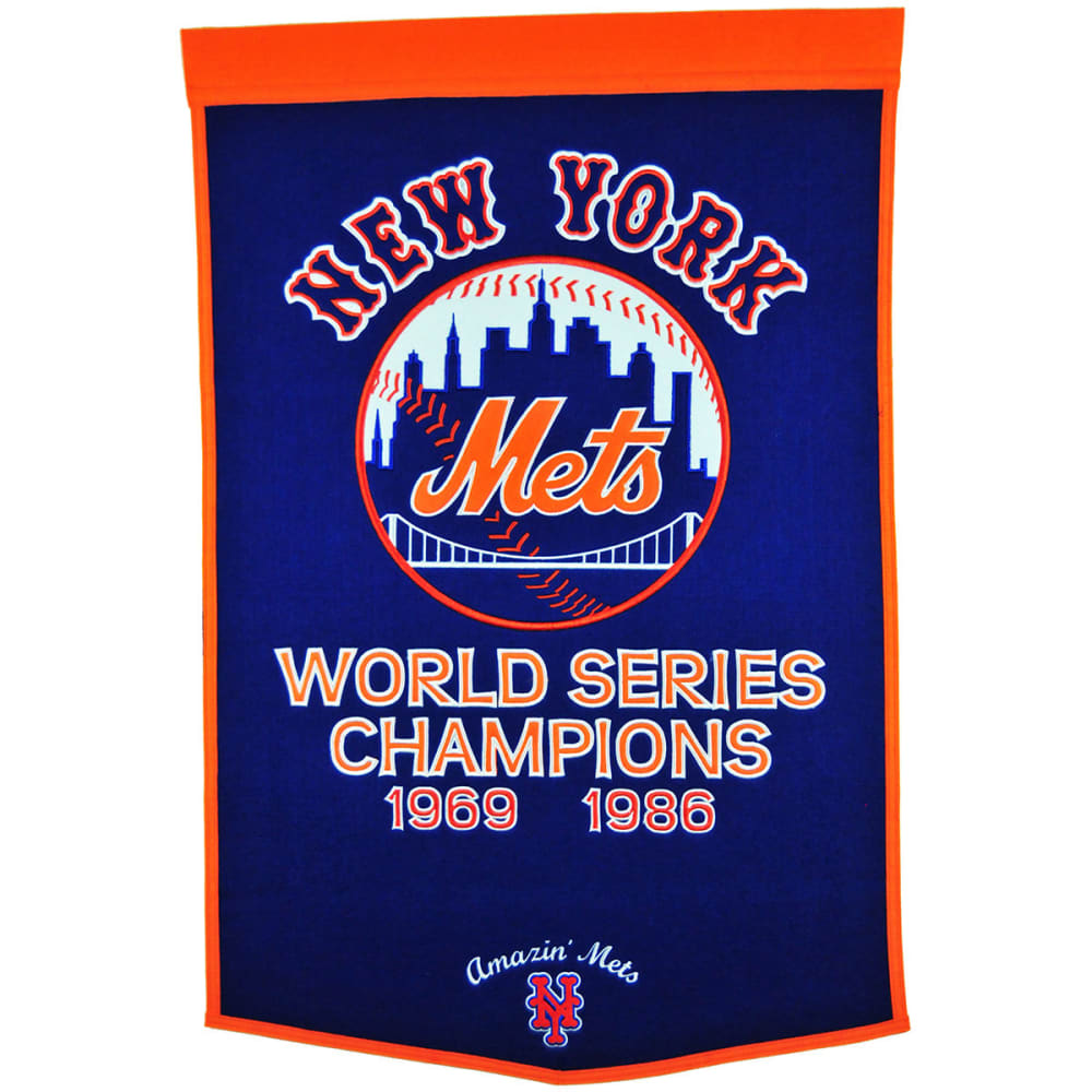 NEW YORK METS World Series Champions Dynasty Banner - NO COLOR
