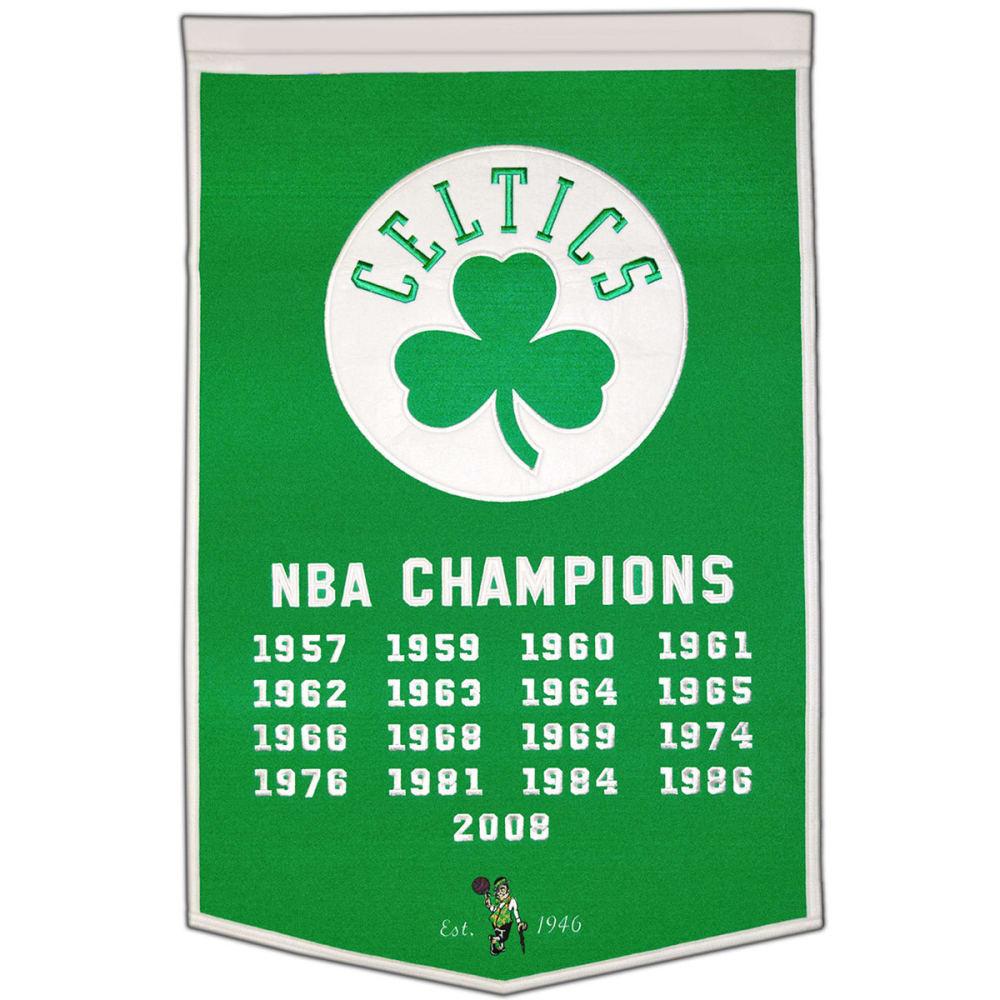 BOSTON CELTICS NBA Champions Dynasty Banner - NO COLOR