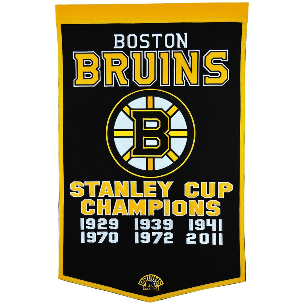 BOSTON BRUINS Stanley Cup Champions Dynasty Banner - NO COLOR