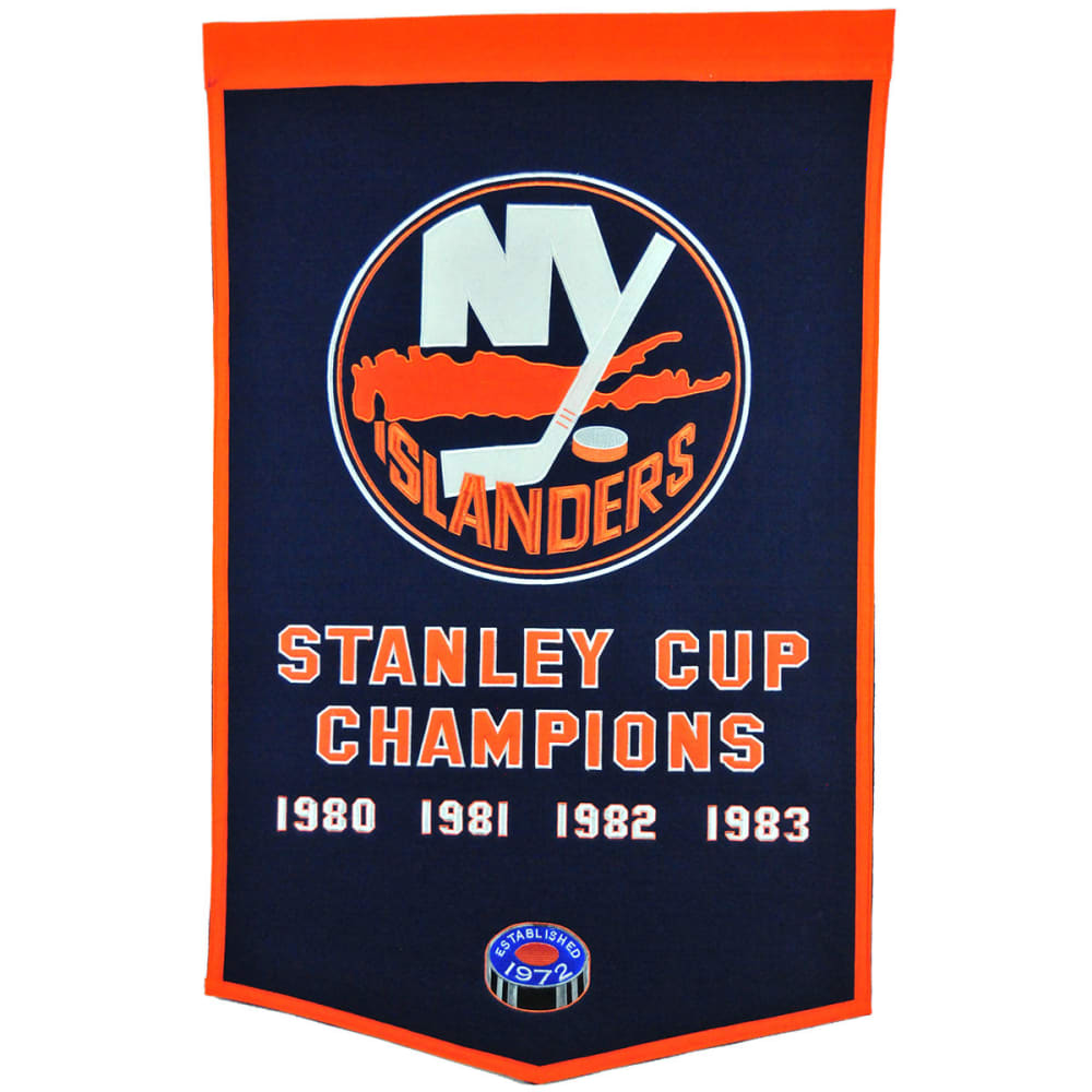 NEW YORK ISLANDERS Stanley Cup Champions Dynasty Banner - NO COLOR