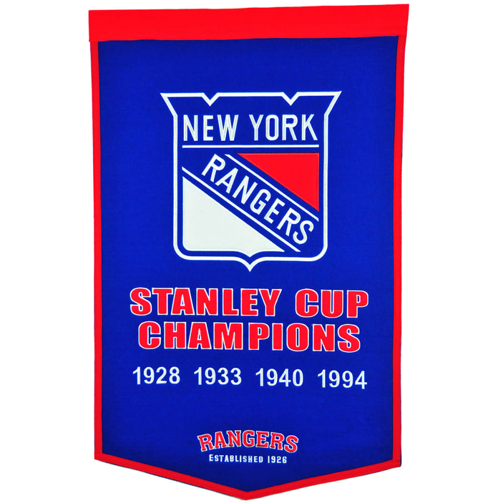 NEW YORK RANGERS Stanley Cup Champions Dynasty Banner - NO COLOR