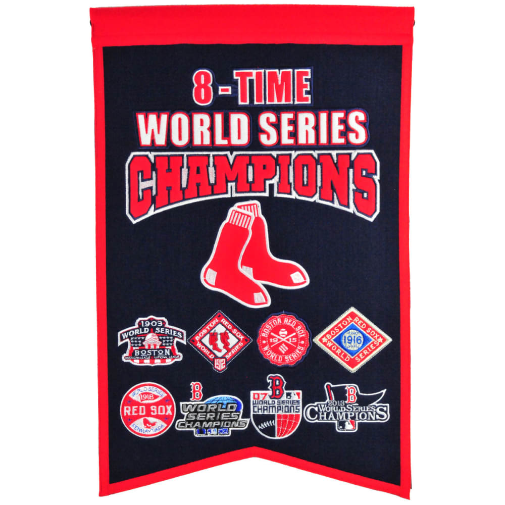 BOSTON RED SOX 8X World Series Champions Banner - NO COLOR