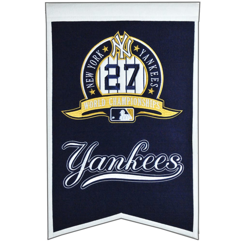 NEW YORK YANKEES 27X World Series Champions Banner - NO COLOR