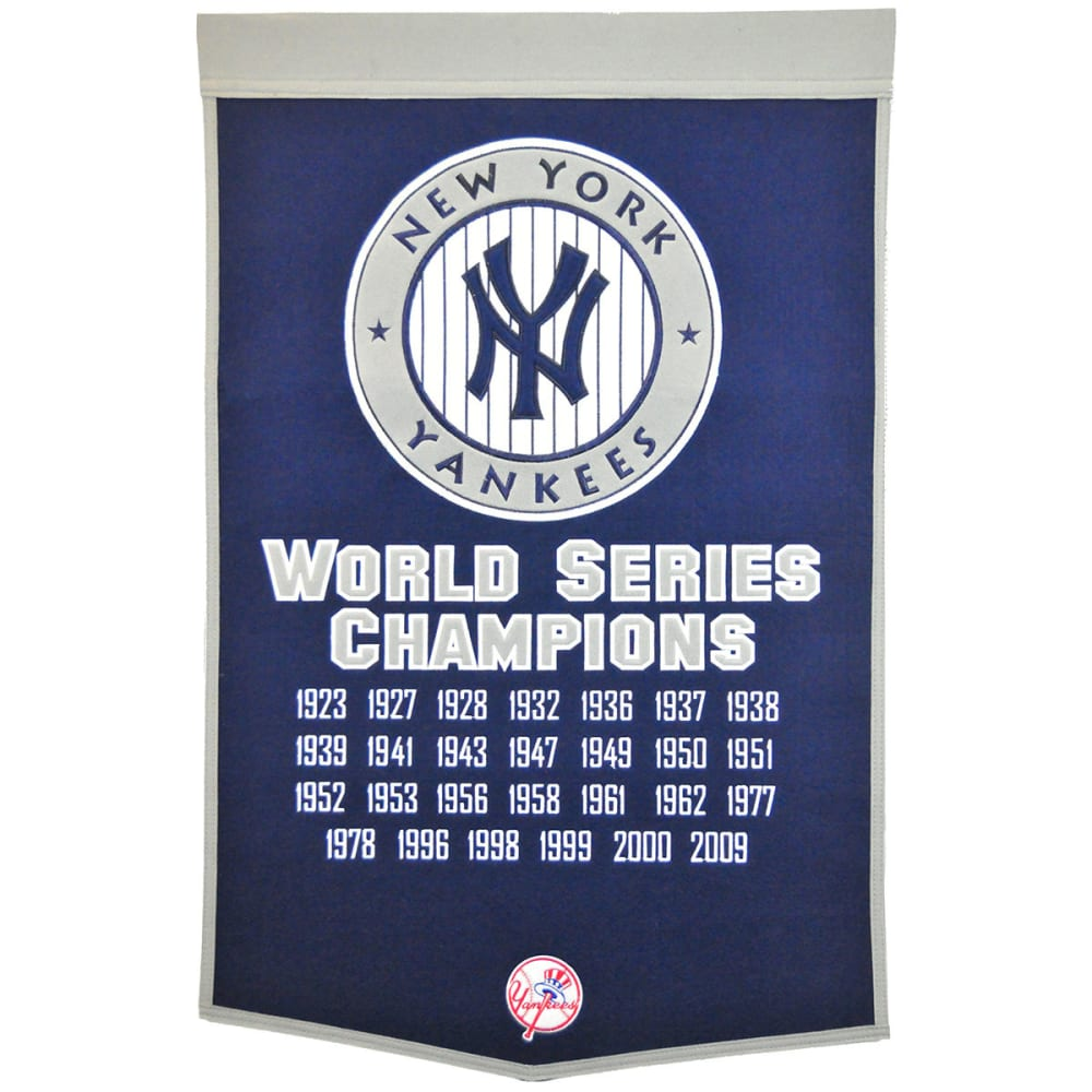 NEW YORK YANKEES World Series Champions Dynasty Banner - NO COLOR