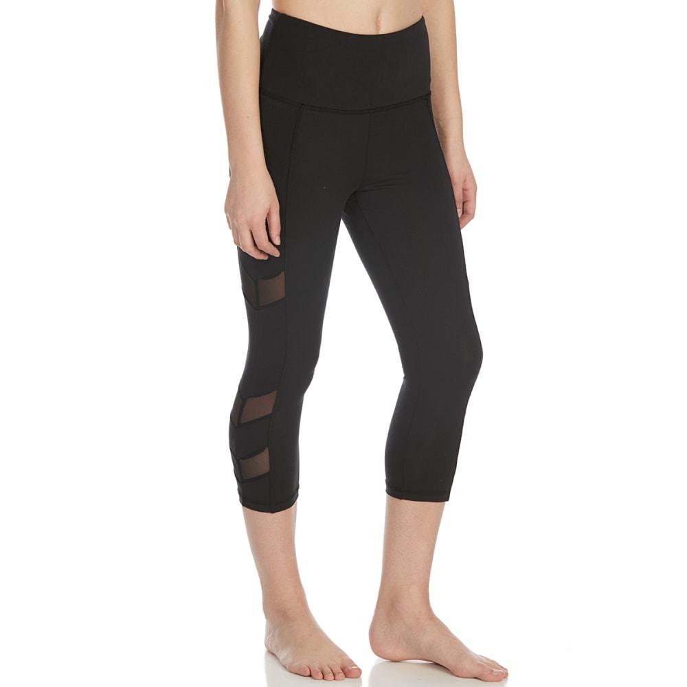 BALANCE COLLECTION BY MARIKA Women's Chevron Capri Leggings - BLACK-001