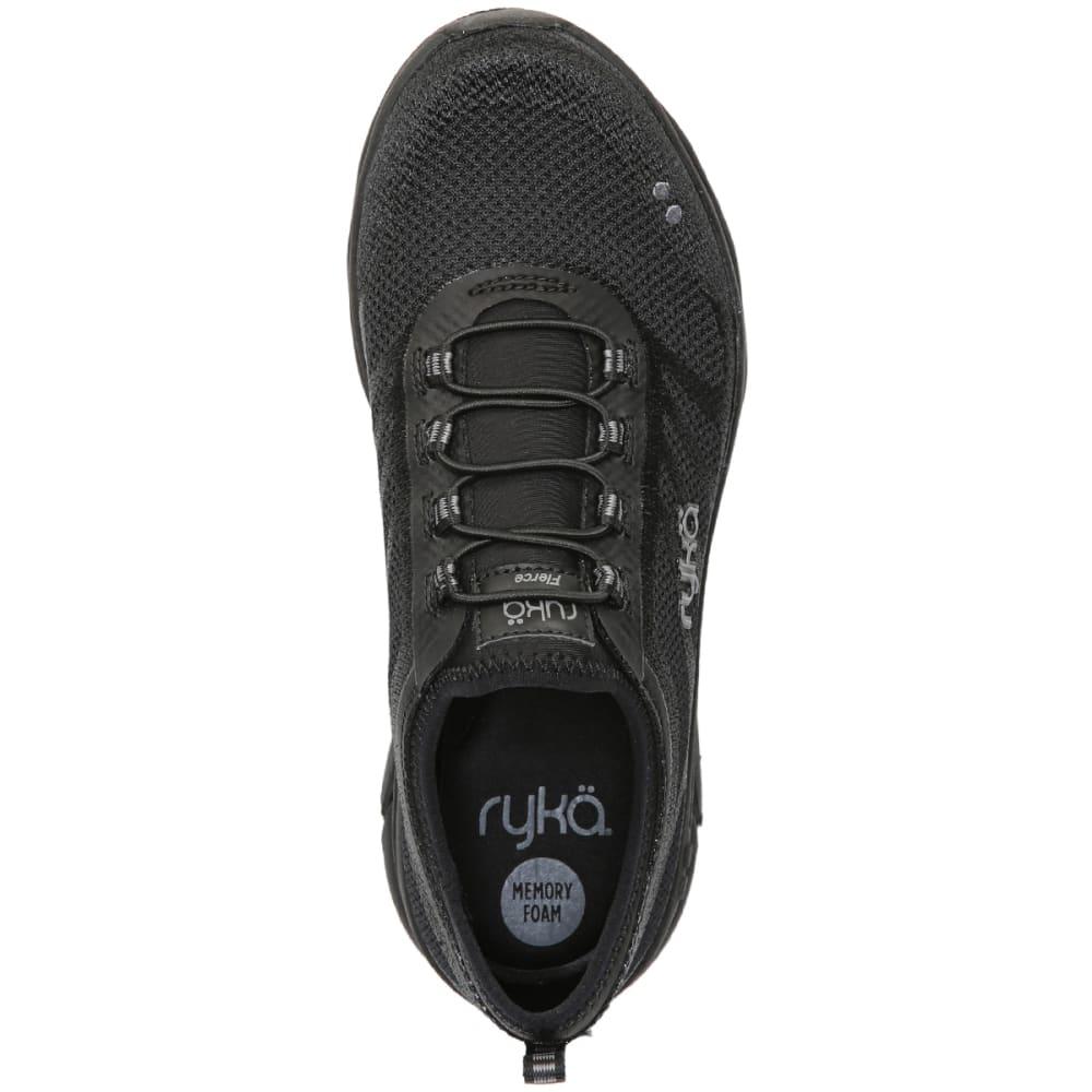 RYKA Women's Fierce Walking Shoes, Triple Black - BLACK