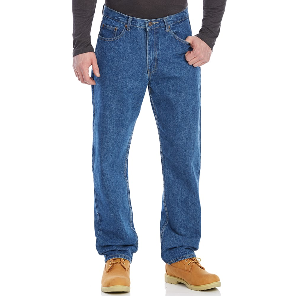 BCC Men's Relaxed Fit 5-Pocket Jeans - ANTIQUE STONE-AS
