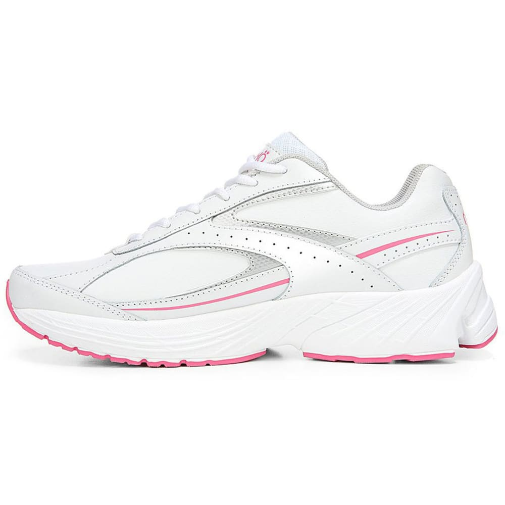 RYKA Women's Comfort Walk Walking Shoes, White/Pink, Wide - WHITE