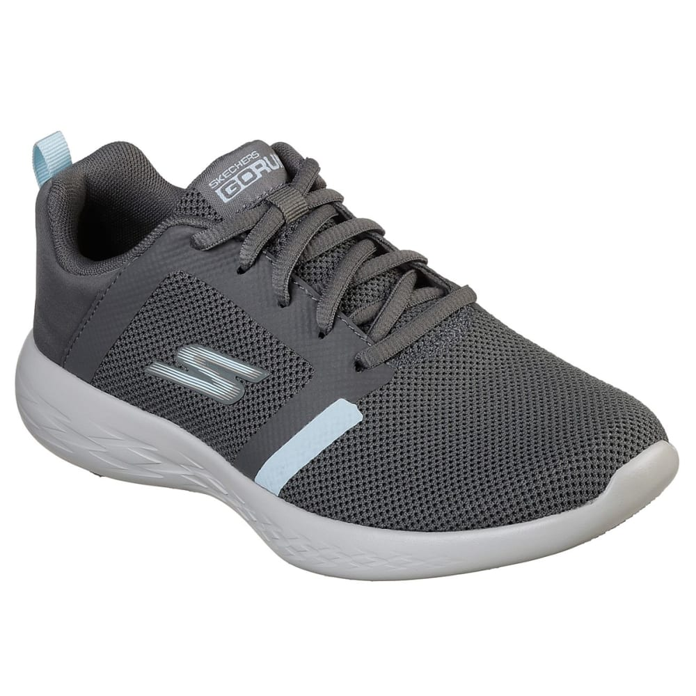 SKECHERS Women's GOrun 600 Sneakers - CHARCOAL -CCBL