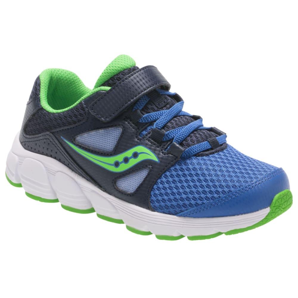 Saucony Little Boys' Preschool Kotaro 4 A/c Running Shoes, Wide - Blue, 1