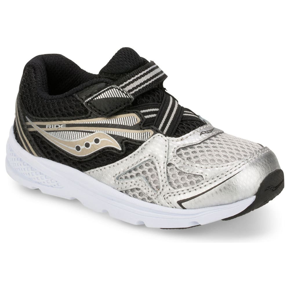 SAUCONY Toddler Boys' Baby Ride 9 Sneakers, Wide - SILVER