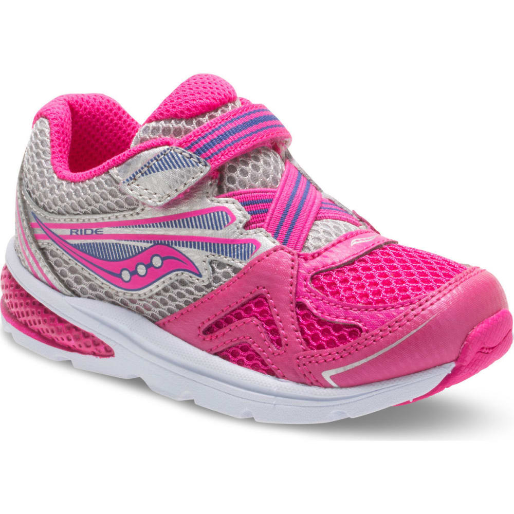 Saucony Toddler Girls' Baby Ride 9 Sneakers, Wide - Red, 5