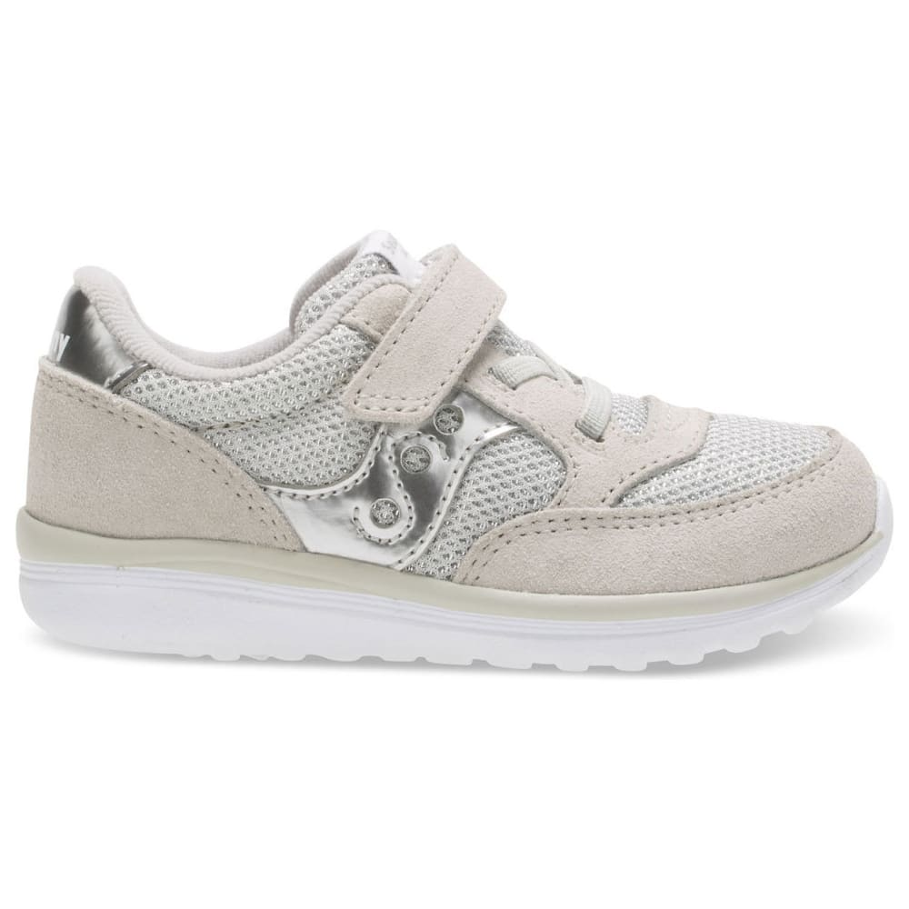 SAUCONY Toddler Girls' Baby Jazz Lite Sneakers - SILVER - ST57165