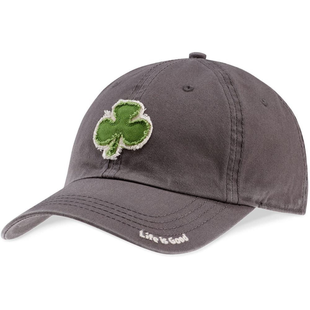 LIFE IS GOOD Men's Clover Tattered Chill Cap - SLATE GREY